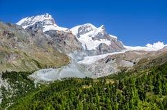 Ghiacciaio di Findelen, alpi europee, Svizzera Immagine Stock