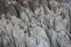 Ghiacciaio di Fox di formazioni di ghiaccio Fotografia Stock