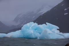 Ghiacciaio di fusione nell'Alaska fotografia stock libera da diritti