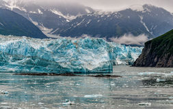 Ghiacciaio di Hubbard mentre fondendo l'Alaska Fotografia Stock