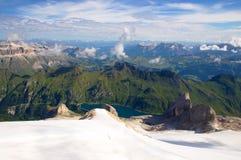 Ghiacciaio di Marmolada, dolomia, alpi, Italia Fotografia Stock Libera da Diritti