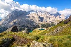 Ghiacciaio di Marmolada, dolomia, Italia Immagini Stock