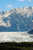 Ghiacciaio di Matanuska da Glenn Highway nell'Alaska Fotografia Stock