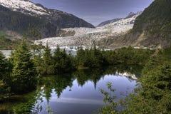 Ghiacciaio di Mendenhall, Juneau Fotografia Stock Libera da Diritti