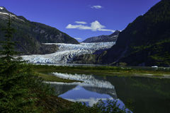 Ghiacciaio di Mendenhall a Juneau, Alaska Immagine Stock Libera da Diritti