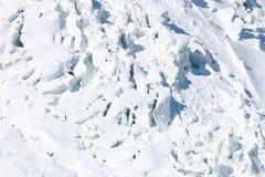 Ghiacciaio di Mont Blanc Fotografia Stock Libera da Diritti