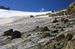 Ghiacciaio di Orny, alpi della pennina, Svizzera Fotografia Stock Libera da Diritti