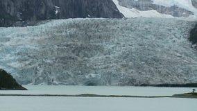 Ghiacciaio di panorama nella Patagonia archivi video