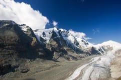 Ghiacciaio di Pasterze in alpi austriache Immagini Stock Libere da Diritti