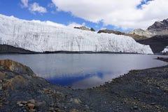 Ghiacciaio di Pastoruri, Peru Andes Mountain fotografie stock