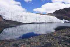 Ghiacciaio di Pastoruri, Peru Andes Mountain fotografia stock