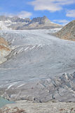 Ghiacciaio di Rhone e lago glaciale Fotografie Stock Libere da Diritti