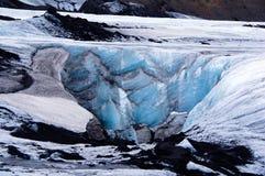Ghiacciaio di Solheimajokull vicino a Skaftafell in Islanda fotografia stock libera da diritti