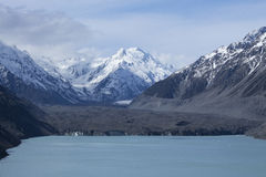 Ghiacciaio di Tasman e lago Tasman in Nuova Zelanda Immagini Stock