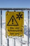 Ghiacciaio di Tuxer Ferner in Austria, 2015 Fotografie Stock Libere da Diritti
