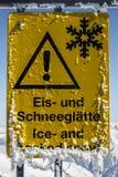 Ghiacciaio di Tuxer Ferner in Austria, 2015 Immagine Stock