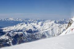 Ghiacciaio di Tuxer Ferner in Austria, 2015 Fotografie Stock