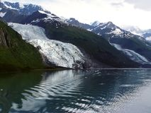 Ghiacciaio di Vassar - fiordo dell'istituto universitario, Alaska Fotografia Stock