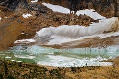 Ghiacciaio e lago glaciale Immagine Stock Libera da Diritti