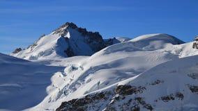 Ghiacciaio e supporto Gletscherhorn visto da Jungfraujoch, Switzerl Fotografie Stock Libere da Diritti