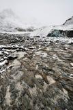 Ghiacciaio eroso di Athabasca dell'ambiente Immagini Stock Libere da Diritti