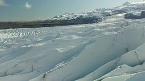 Ghiacciaio in Islanda stock footage