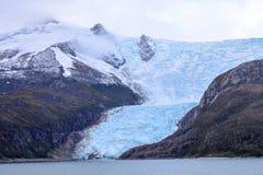 Ghiacciaio Italia in Tierra del Fuego, Cile immagine stock