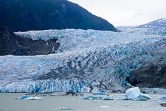 Ghiacciaio a Juneau Alaska immagine stock