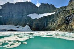 Ghiacciaio in molti ghiacciai, Glacier National Park, Montana di Grinnell fotografia stock libera da diritti