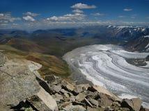 Ghiacciaio in Mongolia nel parco nazionale di Altai Tavan Bogd immagini stock
