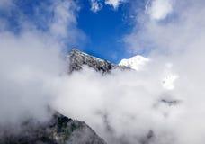 Ghiacciaio, montagna Gongga della neve Fotografia Stock