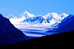 Ghiacciaio, montagne dell'Alaska Fotografie Stock Libere da Diritti