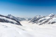 Ghiacciaio nel Jungfraujoch, alpi, Svizzera di Aletsch Fotografie Stock Libere da Diritti