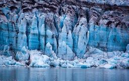 Ghiacciaio nel parco nazionale della baia di ghiacciaio, Alaska fotografie stock libere da diritti