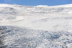 Ghiacciaio nelle alpi austriache di estate Immagini Stock