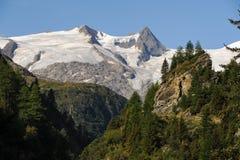 Ghiacciaio nelle alpi austriache Grossvenediger di estate Immagini Stock Libere da Diritti