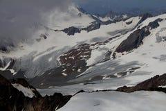 Ghiacciaio nelle alpi di Otztal, Austria Fotografia Stock