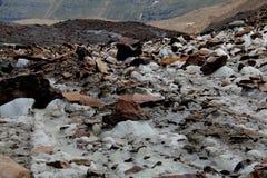 Ghiacciaio nelle alpi di Otztal, Austria Fotografia Stock Libera da Diritti