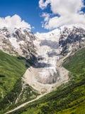 Ghiacciaio nelle montagne Fotografia Stock Libera da Diritti