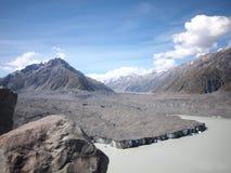 Ghiacciaio Nuova Zelanda di Tasman Fotografie Stock