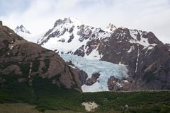 Ghiacciaio Piedras Blancas al parco nazionale di Los Glaciares, Argentina Immagine Stock