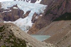 Ghiacciaio Piedras Blancas al parco nazionale di Los Glaciares, Argentina Fotografie Stock Libere da Diritti