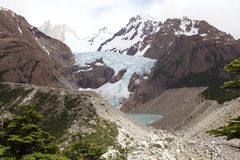 Ghiacciaio Piedras Blancas al parco nazionale di Los Glaciares, Argentina Fotografia Stock