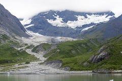 Ghiacciaio retrocedere nella baia di ghiacciaio Fotografia Stock Libera da Diritti