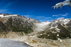 Ghiacciaio in Skagway Alaska fotografie stock libere da diritti