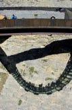 Ghiacciaio Skywalk della valle di Sunwapta Fotografie Stock Libere da Diritti