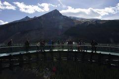 Ghiacciaio Skywalk della valle di Sunwapta Fotografia Stock