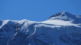 Ghiacciaio sul Jungfraujoch Immagini Stock