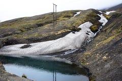 Ghiacciaio vicino a Longyearbyen, Spitsbergen, le Svalbard Fotografia Stock