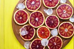 Ghiaccio arancio siciliano Fotografie Stock